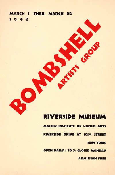 1942 Bombshell Artists Group Exhibt Catalogue Riverside Art Museum